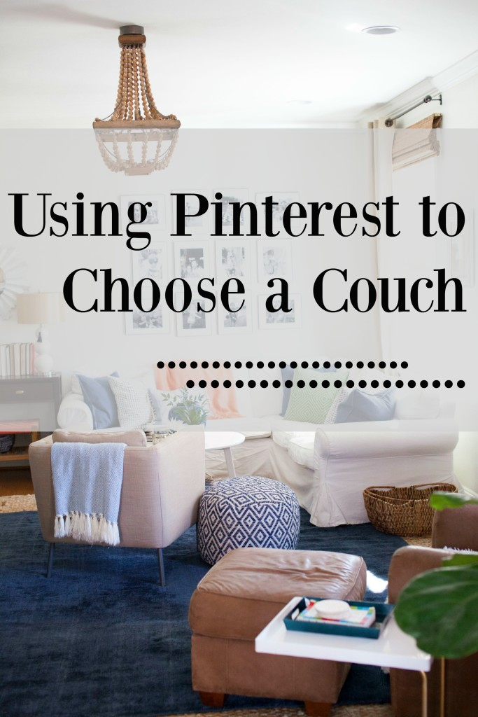 Using Pinterest to choose a couch