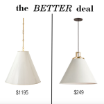 the better deal: cone pendant