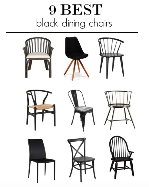 9 best black dining chairs