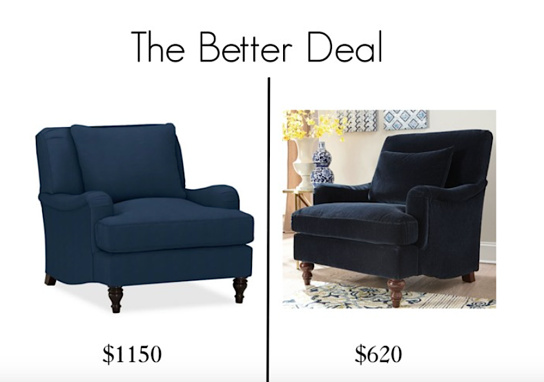 The Better Deal navy chairs