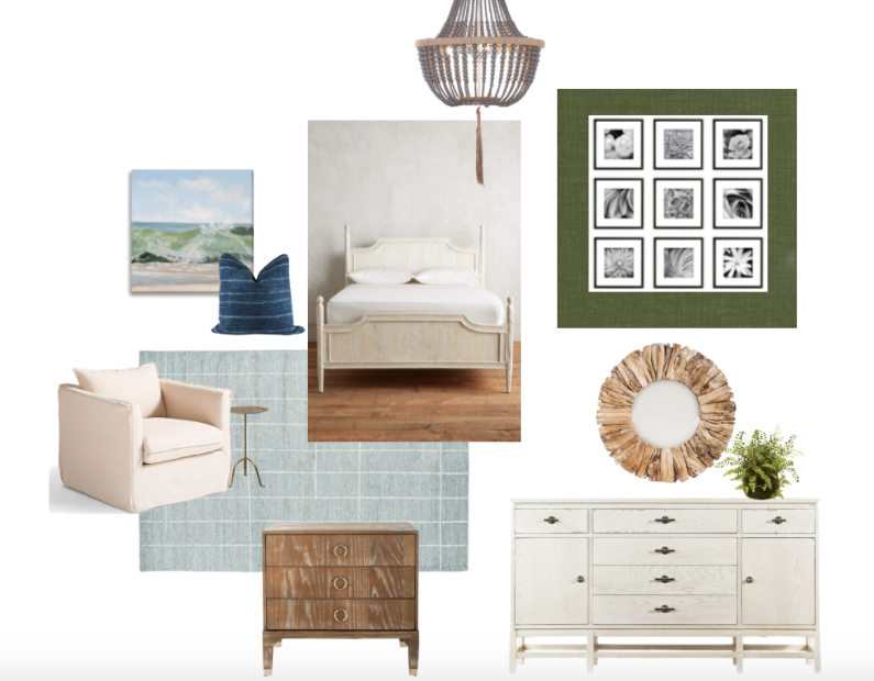 master bedroom refresh, design board
